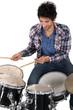 Portrait of a drummer
