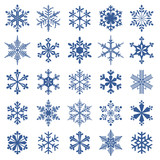 collection of 25 snowflakes