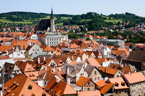 View on the roofs of Cesky Krumlov