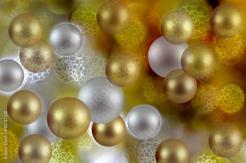 Gold and Silver Xmas Ball Abstract