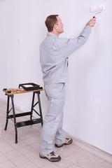 tradesperson painting
