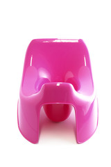 Pink plastic potty
