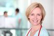 Female nurse in corridor