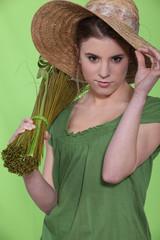 A female florist.
