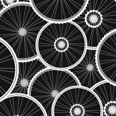 bicycle wheels pattern - sports background