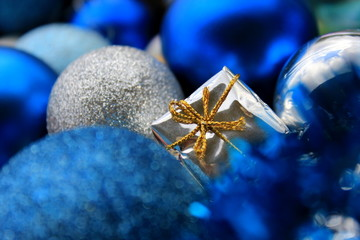Blue Xmas Decoration Background