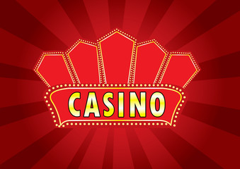 Casino billboard sign vector
