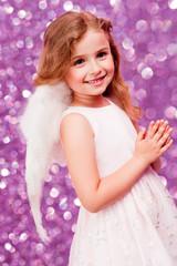 Christmas, Angel - lovely girl celebrating Christmas