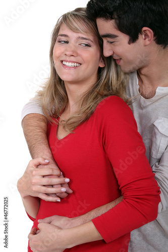 Young couple enjoying a moment of tenderness