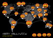 PrHappy Halloween day social network, vector illustration