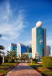 Colourful picture of Abu Dhabi seen from the Corniche