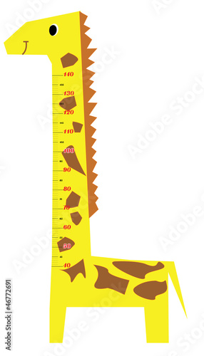 Canvas Hoogte schaal Height scale kids giraffe vector