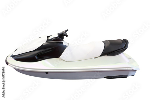 jet ski isolated on white