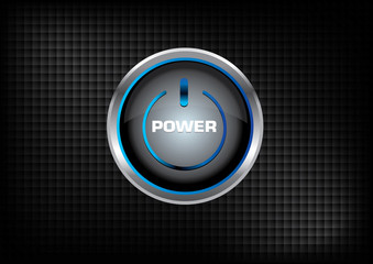 power button vector and dark background design