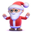 Santa celebrates Christmas