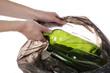 Glass into bag