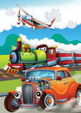 The hot rod - the train - and the flying machine