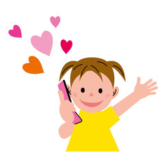 女の子 携帯電話