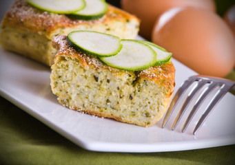Courgette flan.