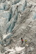 climbers on Glacier du Tour in Rhone-Alps