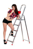 Sexy woman decorator