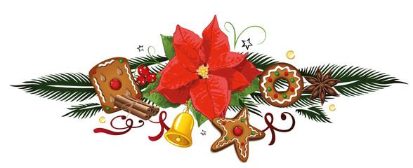 Weihnachtsstern, Lebkuchen, Advent, Ranke