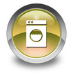 "Yellow Glossy Pictogram ""Laundromat"""