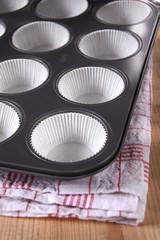 muffin backform mit papierförmchen