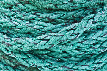 Decorative rope of the cruise ship, background, texture