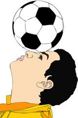 Un bravo giocatore di calcio