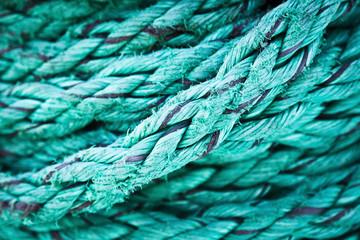 Decorative, beautiful rope of the cruise ship, background, textu