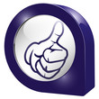 3d icon button blau top ok