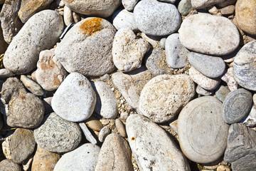 Decorative stone, gravel, pebbles as a background, texture