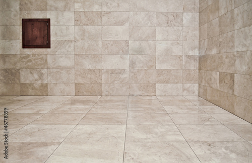 Empty room with marble slabs. Background