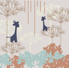 Abstract background with giraffes