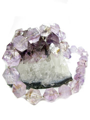 amethyst geode geological crystals and jewelery beads