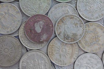 Old Coins of Thailand ($ 1).