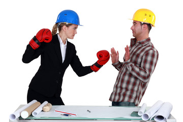 Architect and builder coming to blows