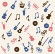 Music elements seamless pattern