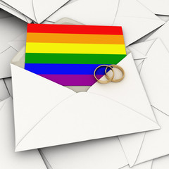 Homosexual marriage invitation