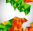 Vector colorful geometrical shapes
