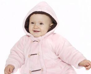 radosne niemowle w kurtce