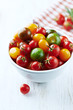 Colorful cherry tomatoes in a bowl