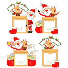Rudolph mascot the event activity. Christmas Character Design Se