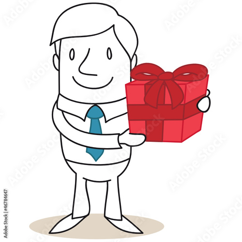 Geschäftsmann, Geschenk