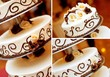 canvas print picture - wedding cake detail