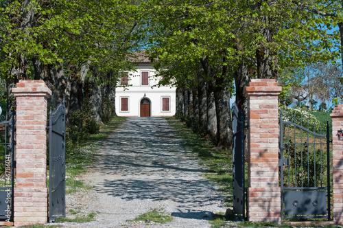 ingresso di una Villa Toscana