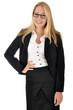 Selbstbewußte junge Geschäftsfrau