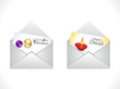 abstract celebration mail icon