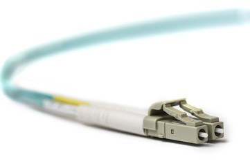 Optical LC patch cord with white connector
